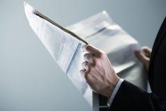 Noticias de las finanzas Foto de archivo libre de regalías