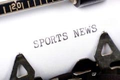 Noticias de los deportes Foto de archivo libre de regalías