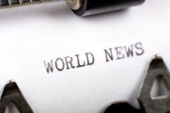 Noticias de mundo imagen de archivo