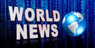 Noticias de mundo Foto de archivo libre de regalías