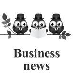 Noticias de negocio ilustración del vector