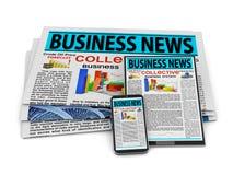 Noticias de negocio Imagenes de archivo