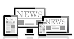 Noticias de negocio Imagen de archivo libre de regalías