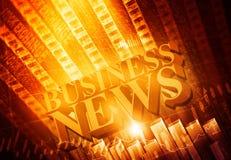 Noticias de negocio de las palabras imagen de archivo libre de regalías