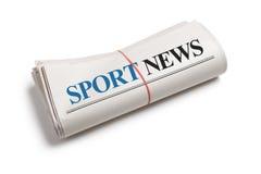 Noticias del deporte Imágenes de archivo libres de regalías