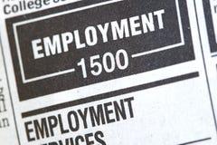 Noticias del desempleo Fotos de archivo libres de regalías
