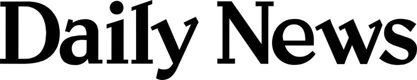 Noticias del logotipo del Daily News libre illustration