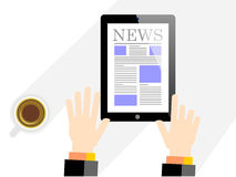 Noticias digitales Foto de archivo libre de regalías