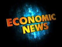 Noticias económicas - palabras del oro 3D Imágenes de archivo libres de regalías
