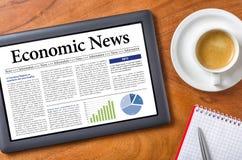 Noticias económicas Fotografía de archivo libre de regalías