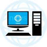 Noticias en línea stock de ilustración