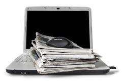 Noticias en línea foto de archivo libre de regalías