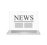 Noticias en línea Imagen de archivo