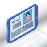 Noticias en Tablet PC genérico libre illustration