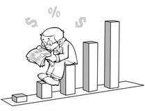 Noticias financieras ilustración del vector