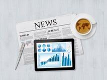 Noticias financieras y tendencias Fotografía de archivo