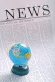 Noticias globales Imágenes de archivo libres de regalías