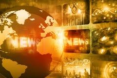 Noticias globales imagenes de archivo
