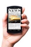 Noticias móviles Imagenes de archivo
