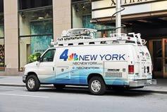 Noticias 4 Nueva York Van foto de archivo libre de regalías