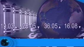 Noticias que muestran el mercado de acción ilustración del vector