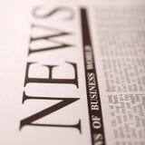 Noticias superiores Imagen de archivo
