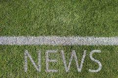 Noticias y deporte Fotografía de archivo