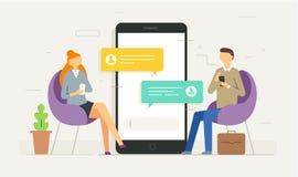 Notificação das mensagens do bate-papo no smartphone Fotografia de Stock Royalty Free