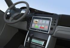 Notificación de la llamada entrante para la consola elegante del coche Fotografía de archivo libre de regalías