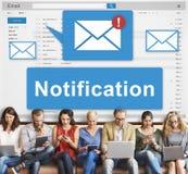 Notification Alert Digital Icon Internet Network Concept Stock Images