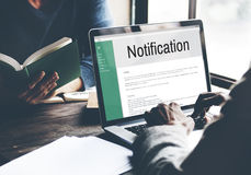 Notification Alert Icon Inbox Internet Message Concept Stock Photography