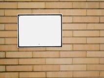 Notification blanc sur le mur de briques Image libre de droits