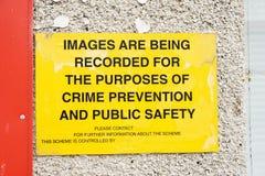 Notification d'empêchement de crime. photographie stock libre de droits