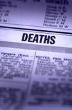 Notification des morts image stock