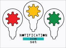 Notification eco icon set. Notification eco icon web set Royalty Free Stock Image