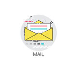 Notification Envelope Email Inbox Message Send Mail Icon Stock Image