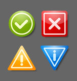 Notification icons Royalty Free Stock Image
