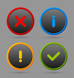 Notification icons Royalty Free Stock Photography