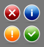 Notification icons Stock Photos