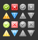 Notification icons Stock Images
