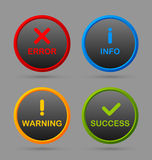 Notification icons Royalty Free Stock Images