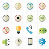 Notification and Information icons. This image is a vector illustration Royalty Free Stock Photography