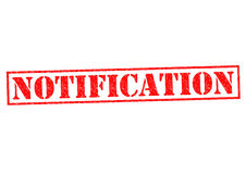 NOTIFICATION Stock Photography