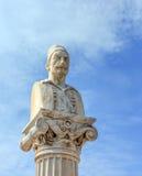 Notis Botsaris monument, Nafpaktos, Greece Royalty Free Stock Image