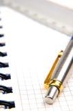Notitieboekje en een pen Royalty-vrije Stock Foto