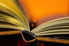 Notitieboekje en een potlood Stock Fotografie