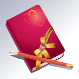 Notitieboekje en pen. Stock Foto