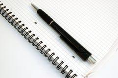 Notitieboekje en pen #3 Royalty-vrije Stock Foto's