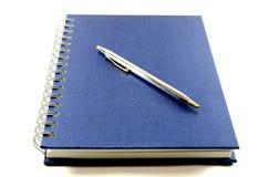 Notitieboekje en pen. Royalty-vrije Stock Foto