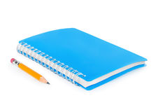 Notitieboekje en potlood stock fotografie